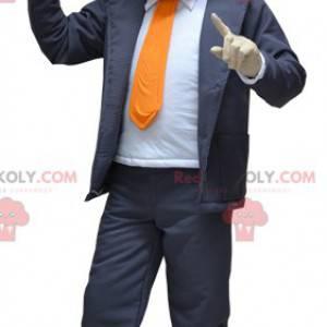 Maskotka biznesmen ubrany w garnitur i krawat - Redbrokoly.com