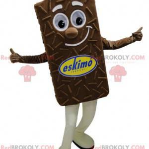 Riesiges und lächelndes Schokoladeneis-Maskottchen -