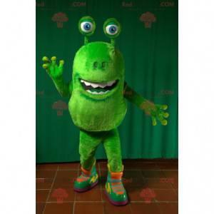 Green alien mascot green creature - Redbrokoly.com