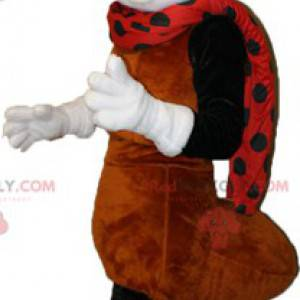 Maskot hnědý bílý a černý mravenec - Redbrokoly.com