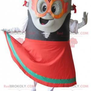 Gray dumpster trash mascot - Redbrokoly.com