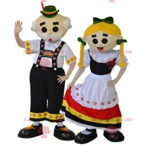 2 tyrolskie maskotki. Tradycyjne maskotki para - Redbrokoly.com