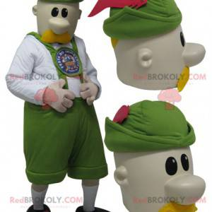 Mascot man dressed in Tyrolean outfit - Redbrokoly.com