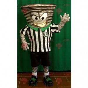Maskot Whirlpool oblečený v obleku rozhodčího - Redbrokoly.com