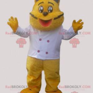 Maskot žlutá kočka v kuchařském oblečení - Redbrokoly.com