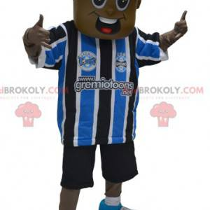 African American boy mascot in sportswear - Redbrokoly.com