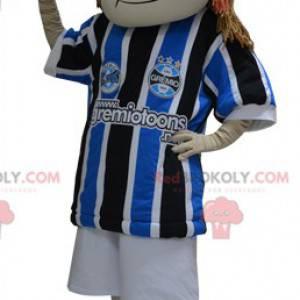 Mädchen Maskottchen in Sportbekleidung gekleidet -
