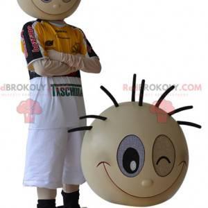 Sportowa maskotka chłopca mrugająca - Redbrokoly.com