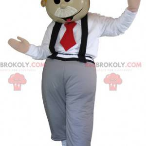 English mascot with a bow tie and suspenders - Redbrokoly.com