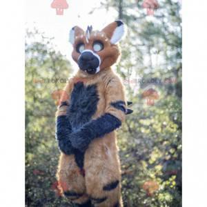 Mascote criatura fantástica marrom e preta - Redbrokoly.com