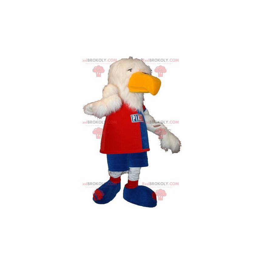 Maskot orel bělohlavý ve sportovním oblečení - Redbrokoly.com
