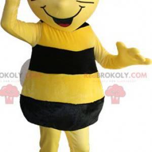 Maskottchen der gelben und schwarzen Biene. Maya das