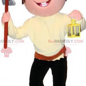 Chlapec pirát maskot s šátkem a krumpáčem - Redbrokoly.com