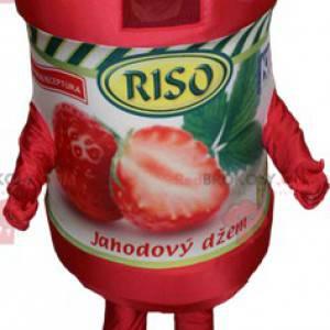Giant strawberry jam jar mascot - Redbrokoly.com