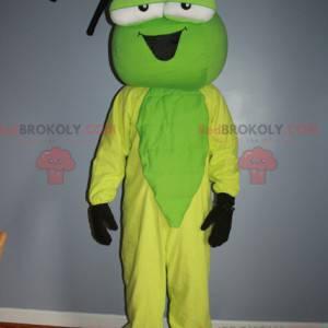 Grønn og gul insektsmaskot - Redbrokoly.com