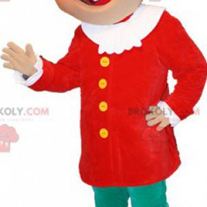 Maskot blonďák v barevné oblečení - Redbrokoly.com