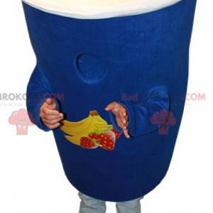 Maskotka Danone niebieski jogurt. Maskotka deser mleczny -