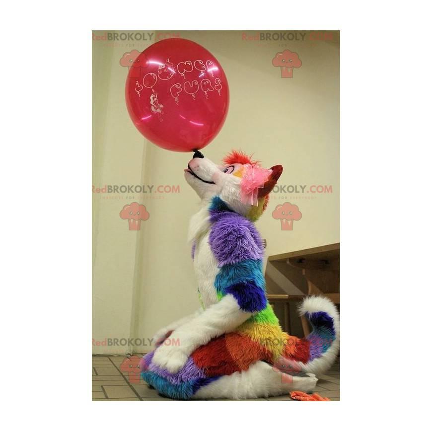 Vícebarevný pes maskot všechny chlupaté - Redbrokoly.com