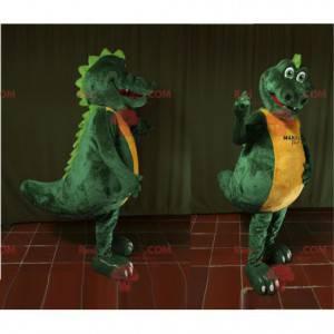 Riesiges grünes und gelbes Krokodilmaskottchen - Redbrokoly.com