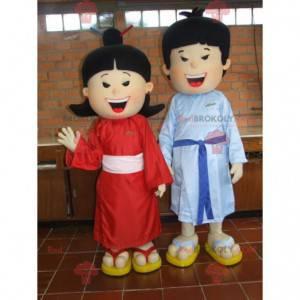 Asiatiske par maskoter. Kinesiske maskoter - Redbrokoly.com
