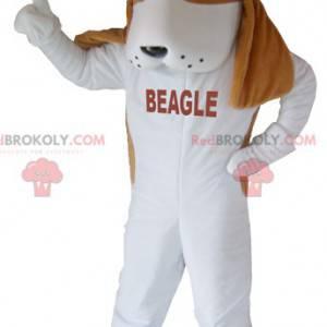 Hnědý a bílý beagle pes maskot - Redbrokoly.com