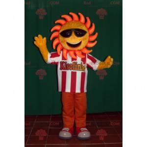 Sluneční maskot s tmavými brýlemi - Redbrokoly.com