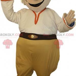 S úsměvem sněhulák blonďatý pirát maskot - Redbrokoly.com
