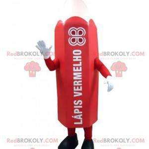 Maskot obří červená tužka. Maskot pera - Redbrokoly.com