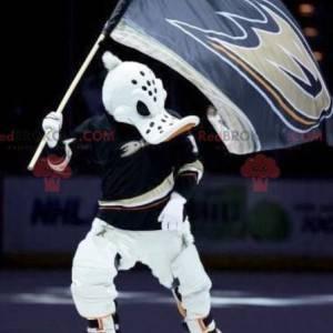 Giant duck mascot in hockey gear - Redbrokoly.com
