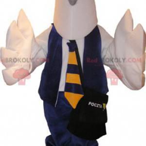 Pošťák poštovní holub bílý pták maskot - Redbrokoly.com