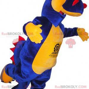 Blue yellow and red dinosaur mascot - Redbrokoly.com