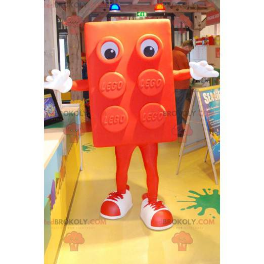 Giant Orange Lego Mascot - Redbrokoly.com