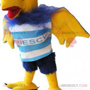 Chlupatý modrý a žlutý sup pták maskot - Redbrokoly.com