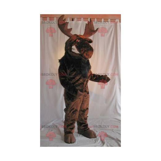 Brown caribou elk mascot - Redbrokoly.com