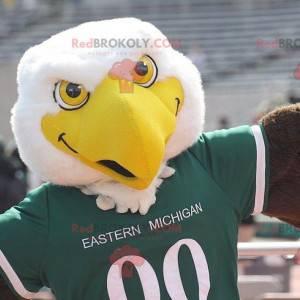 Large yellow and brown white eagle mascot - Redbrokoly.com