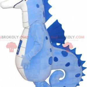 Very successful blue and white seahorse mascot - Redbrokoly.com