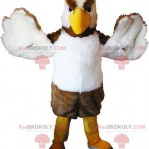 Zastrašující maskot supa modrého a bílého ptáka - Redbrokoly.com