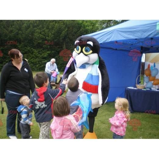 Penguin maskot černý a bílý tučňák - Redbrokoly.com