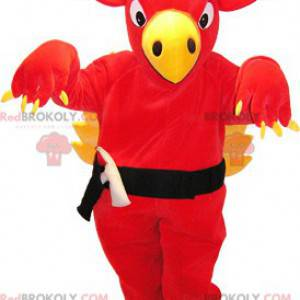 Giant red and yellow dragon mascot - Redbrokoly.com