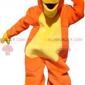 Oranžový, žlutý a černý tygr maskot bez pruhů - Redbrokoly.com