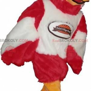 Úžasný maskot červeného, bílého a oranžového orla -