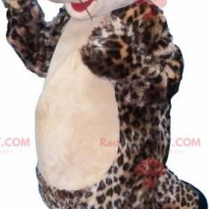 Maskot leopardí kočky s vyčnívajícími očima - Redbrokoly.com