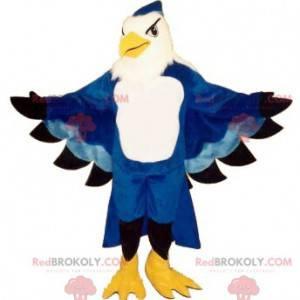 Modrý a bílý orel maskot - Redbrokoly.com