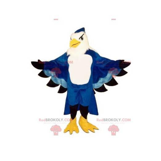 Blue and white eagle mascot - Redbrokoly.com