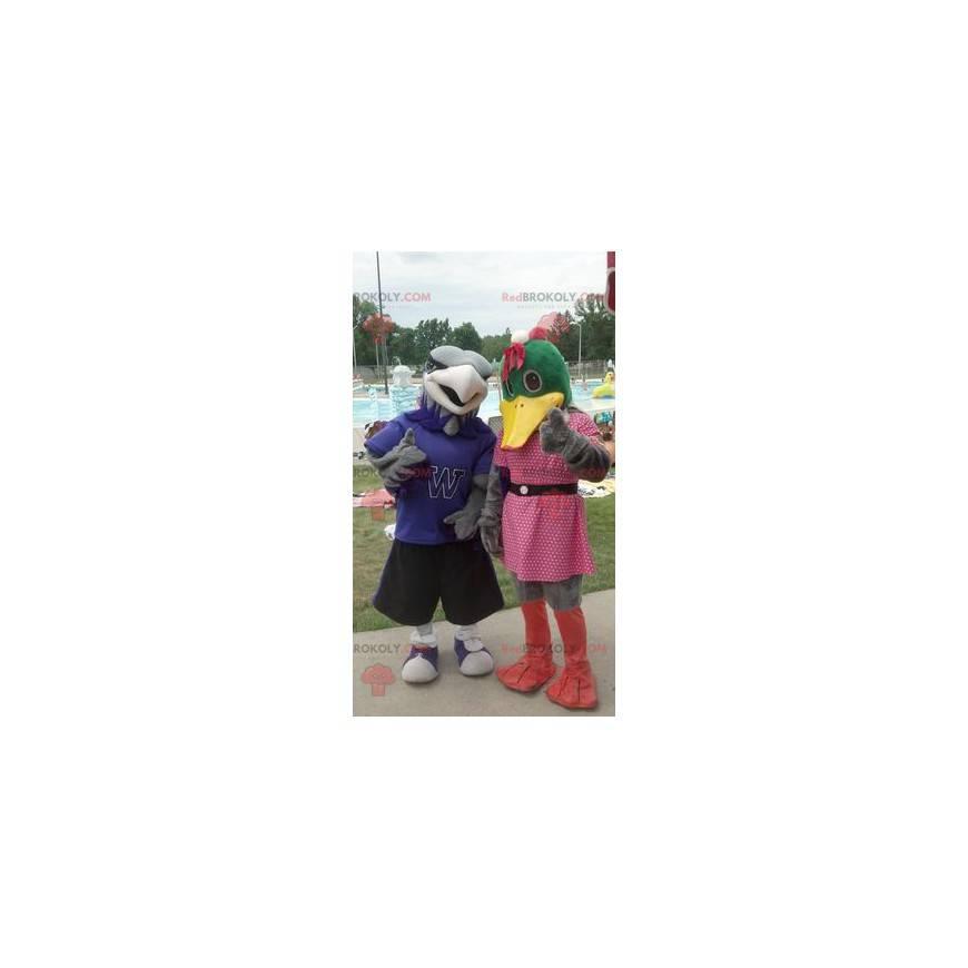 2 duck and vulture mascots - Redbrokoly.com