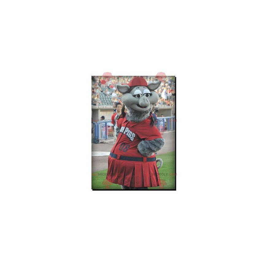 Gray boar pig mascot - Redbrokoly.com