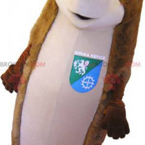 Gigantisk brun og beige pinnsvin maskot - Redbrokoly.com