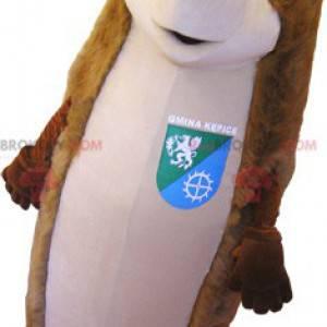 Mascote gigante ouriço marrom e bege - Redbrokoly.com