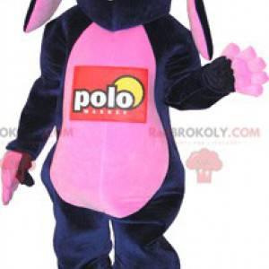 Funny black and pink donkey mascot - Redbrokoly.com