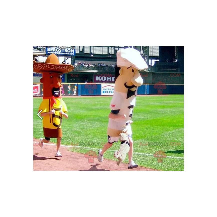 2 mascots a chef and a Mexican - Redbrokoly.com